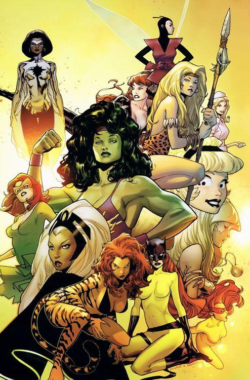 Ladies of Marvel by Olivier Coipel