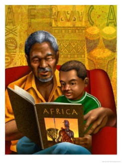 Reading-painting-Black-grandfather-to-boy